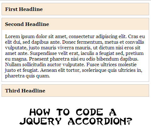 jquery accordion tutorial