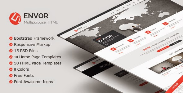 Envor - Themeforest Fully Multipurpose Template