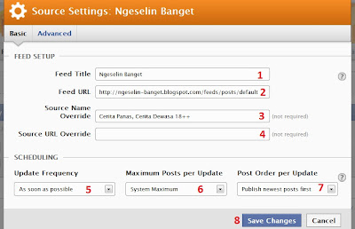 setting rss graffiti beta 2.0