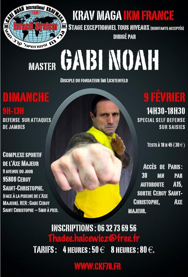 Stage de Krav Maga 2014 Gabi Noah Cergy CKF 78