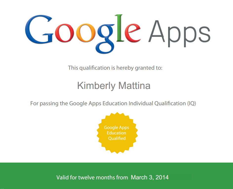 The Tech Lady Google Apps Individual Qualification Exams