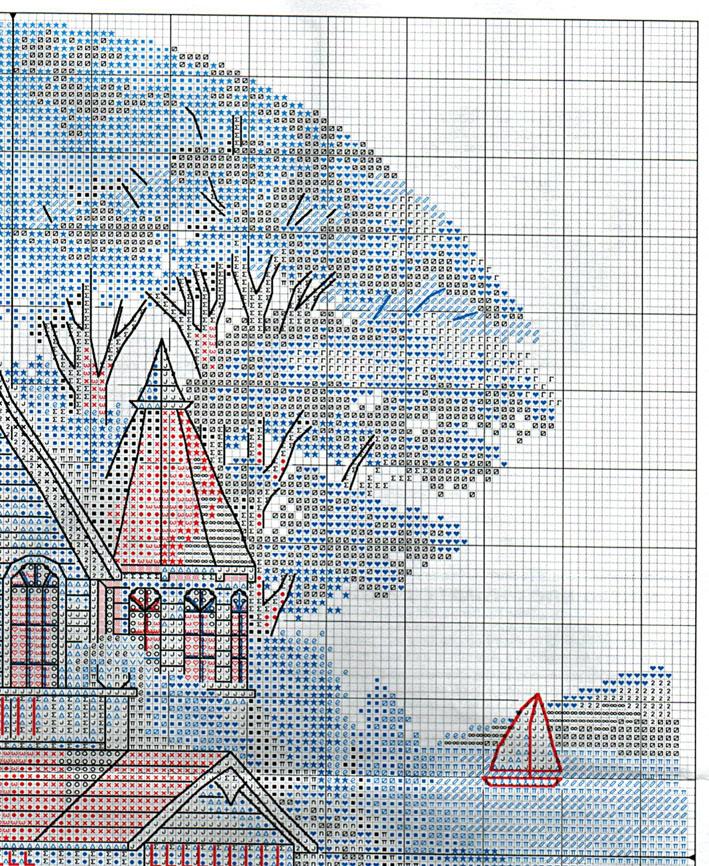 Викторианские дома схемы вышивок