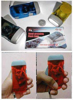 Hand Pressing Flash Light