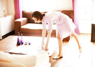 Limpiando la casa de otra familia