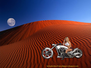 Harley Davidson, Desktop wallpapers Harley Davidson Beautiful Blonde Babe Red Moon Desert