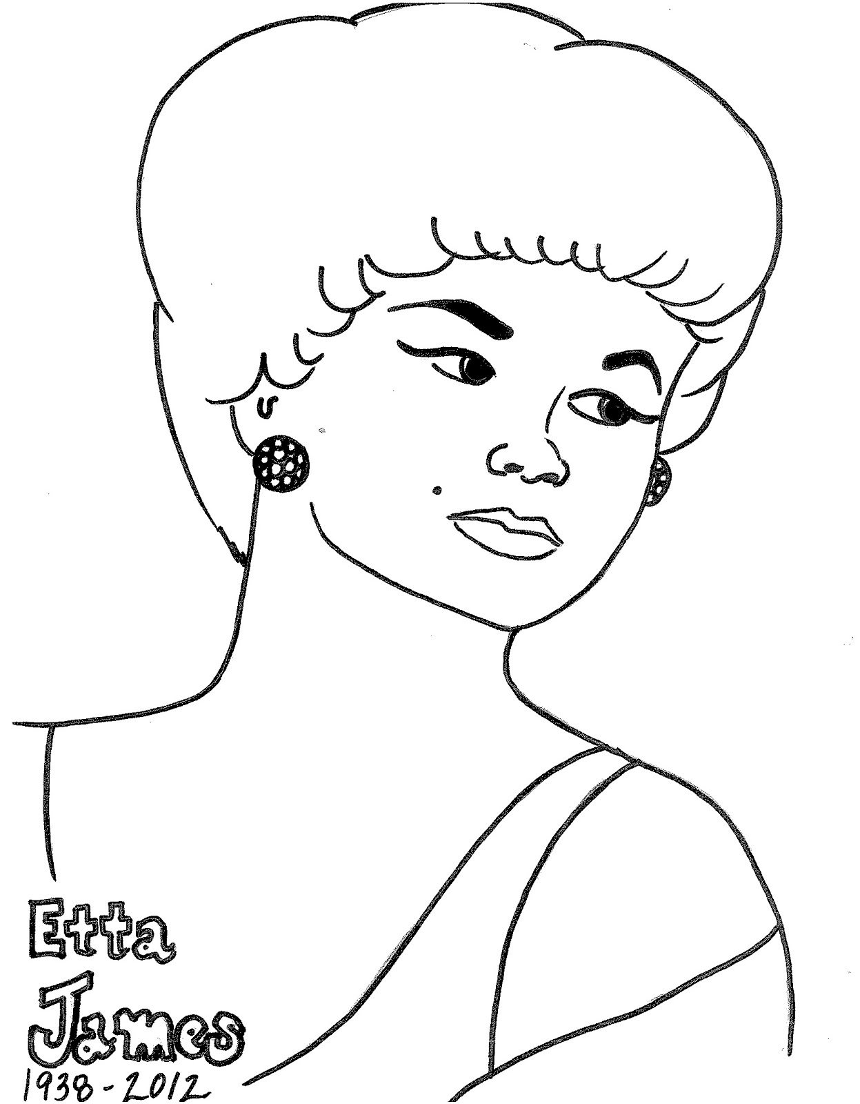 Uncategorized History Coloring Pages to do and see womens history coloring pages pdf file of etta james page
