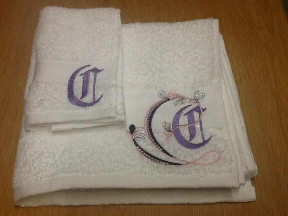 Embroidery girl wedding gift embroidered towels