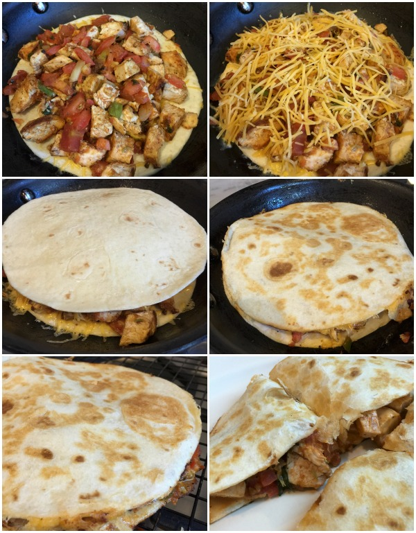 How to make delicious chicken quesadilla.