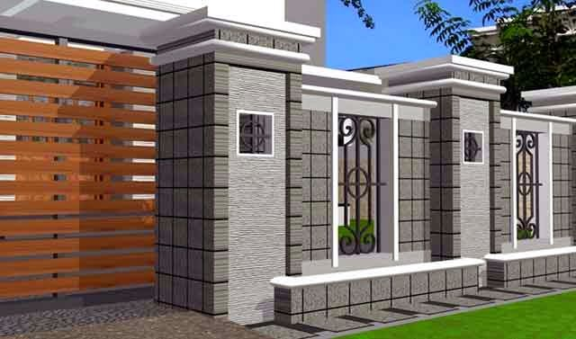 model pagar rumah minimalis yang cantik properti tipe