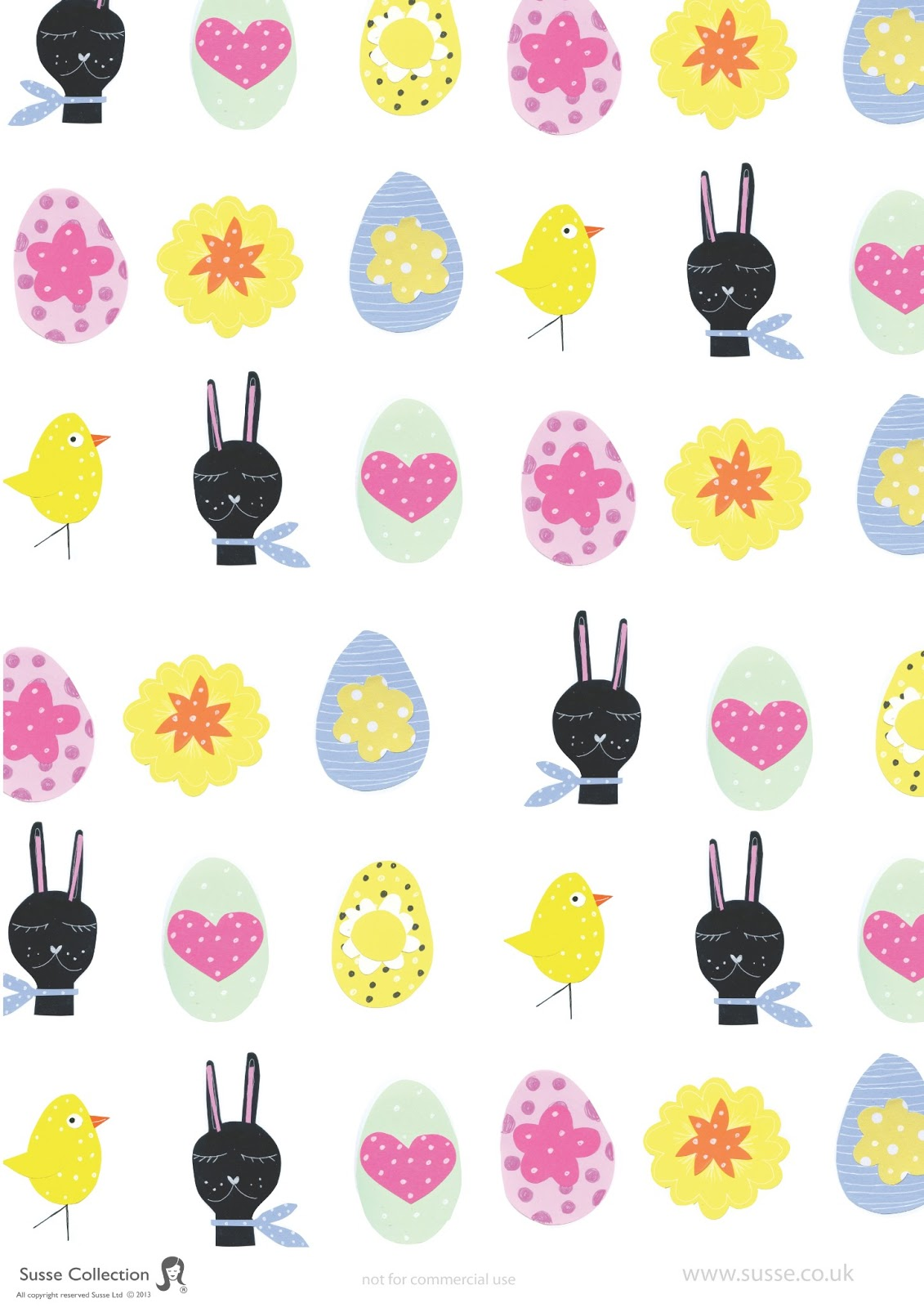 Susse collection fun friday craft night easter papers for Deco de paques