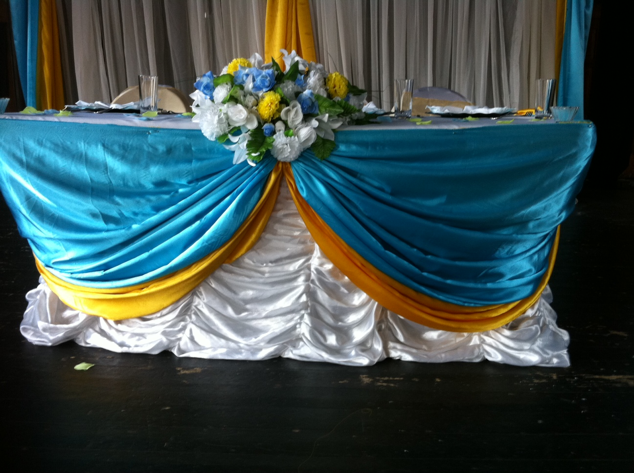 Doris Decoration And Cakes Turquoise Blue And Yellow Engagement Turquoise  Blue And Yellow Engagement Posted By