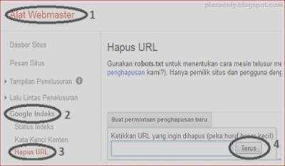 Cara Menghapus URL Error Pada  Blog