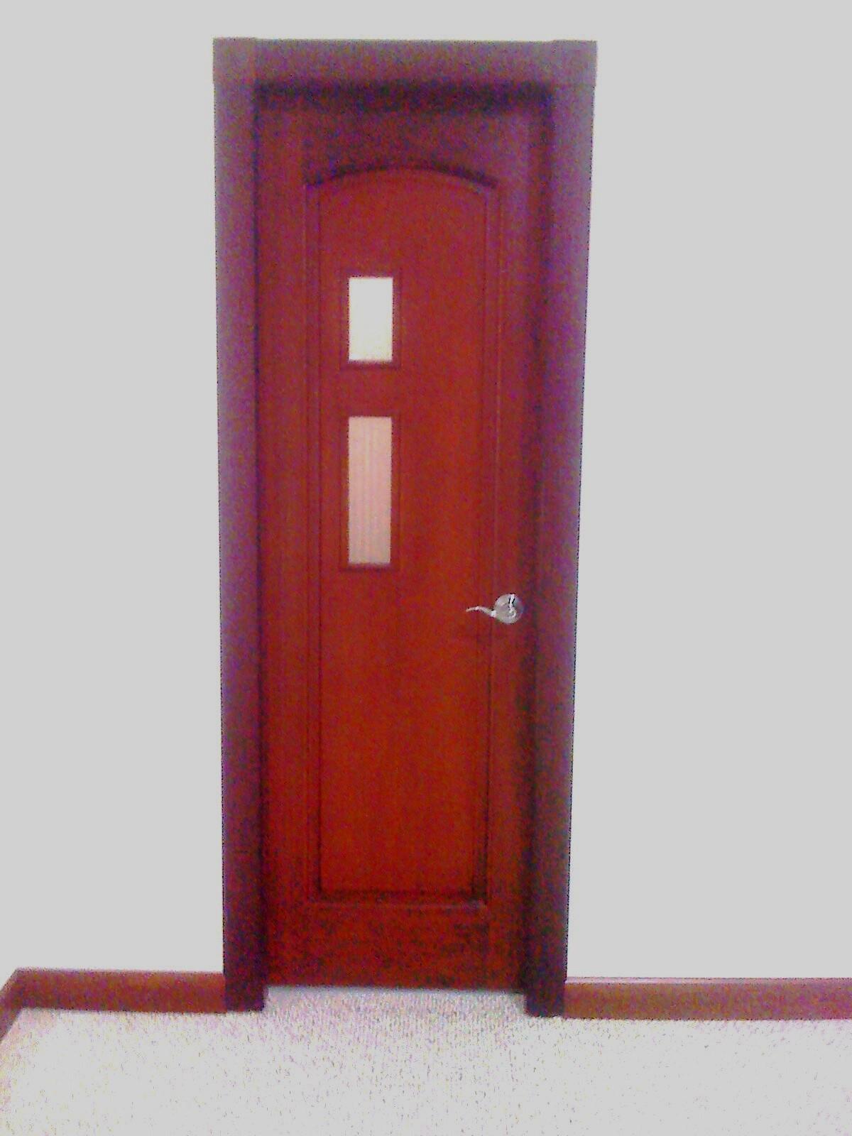 Puertas De Aluminio Para Baño Color Madera:PUERTA PARA BAÑOS DE CASAS MODERNAS, CONFECCIÓN EN MADERA DE LAUREL