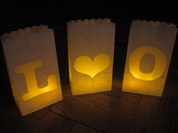 Paper Bag Luminaries Weddingbee