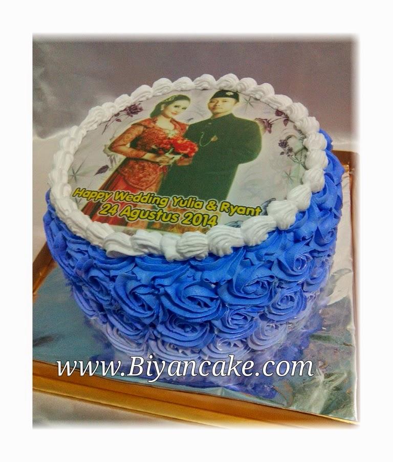 ombre cake ungu ~ Yulia