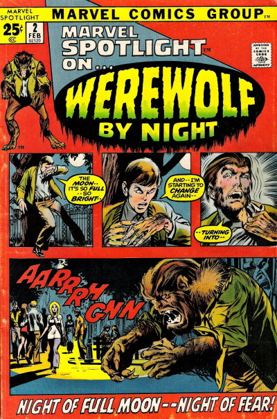 Marvel Spotlight 2 First Werewolf By Night comic cover image