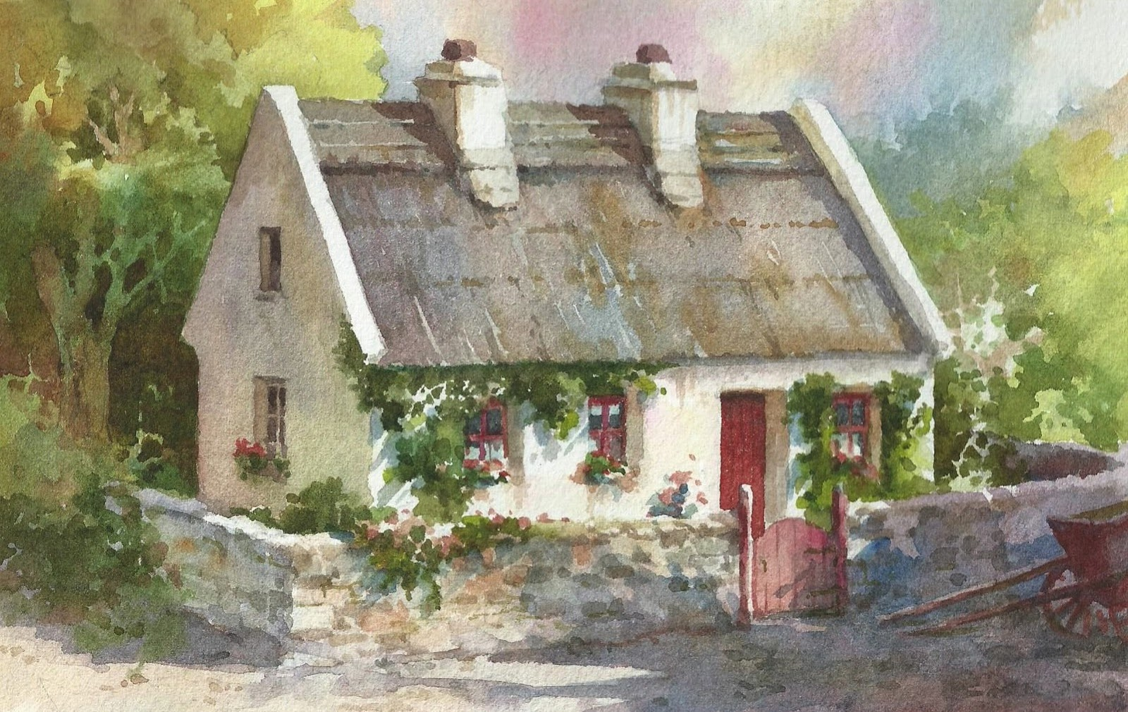 New Paintings Of Thatched Cottages In Ireland