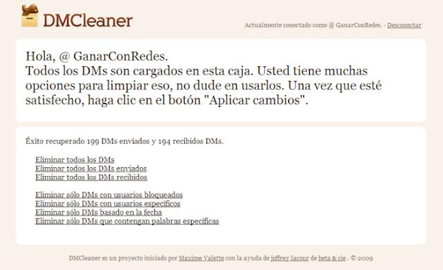 DMCleaner (borrado masivo de mensajes directos en Twitter)