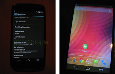 Vazam imagens do Android 4.4 KitKat