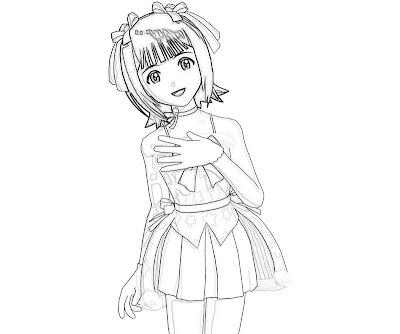 Idolmaster Coloring Pages