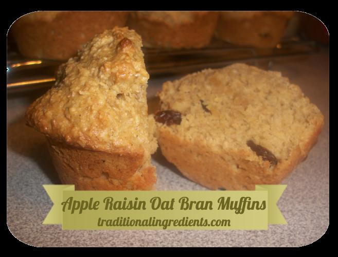 Apple Raisin Oat Bran Muffins