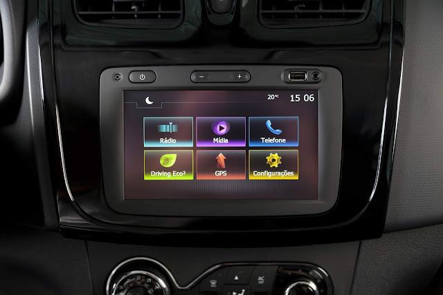 Renault Sandero GT Line 2016 - sistema multimídia