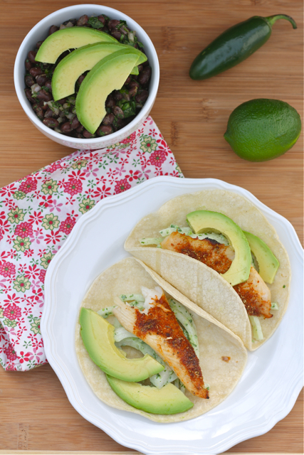Healthy Mexican Dinner: Tilapia Tacos + Black Bean Salad from A Bitchin&#39; Kitchen