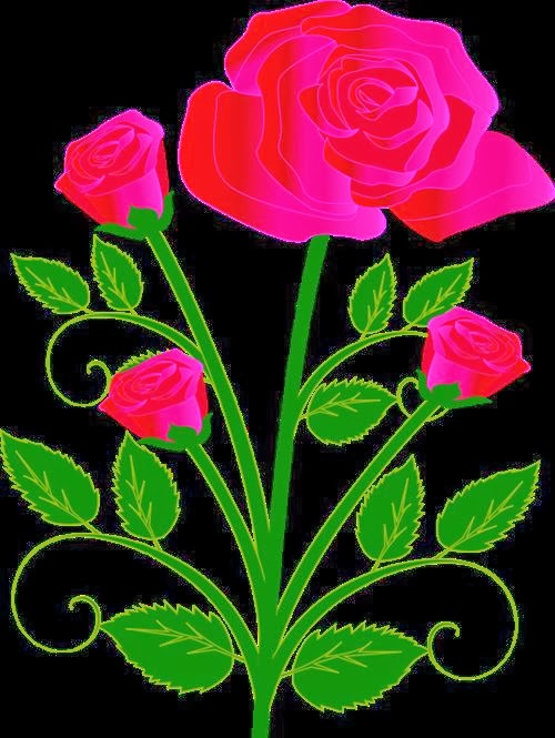 Beautiful Clip Art Happy Valentine's Day Roses 2014