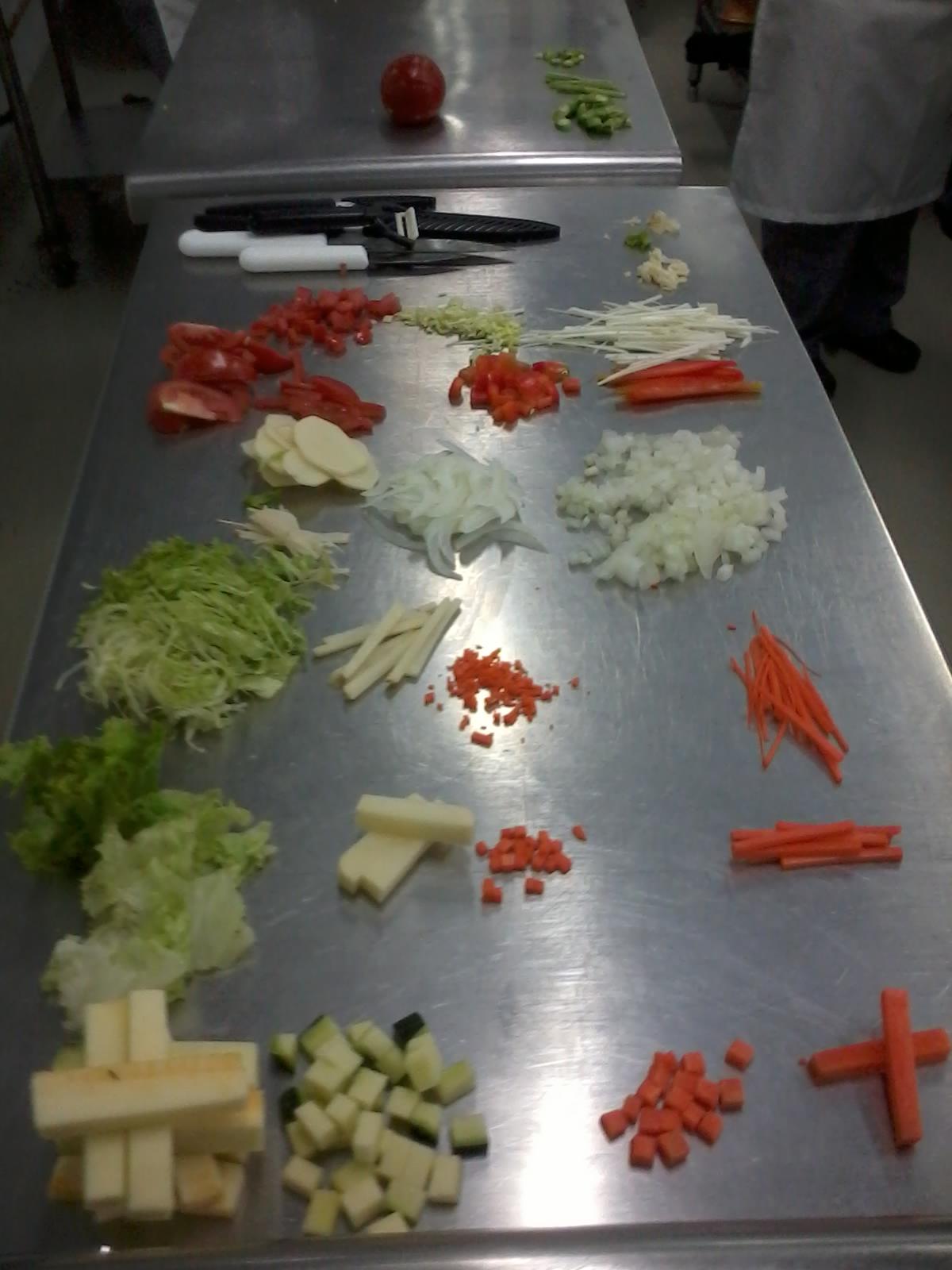 Cocina basica cortes de verduras for Cortes de verduras gastronomia pdf