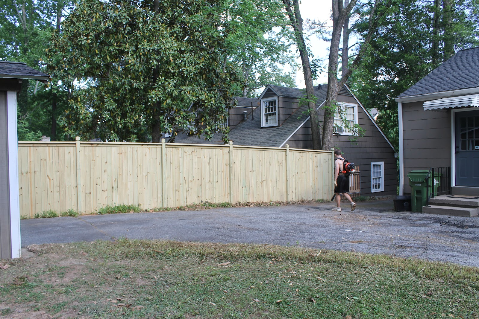 notes from the nelsens back yard makeover part 1 fence and clearing