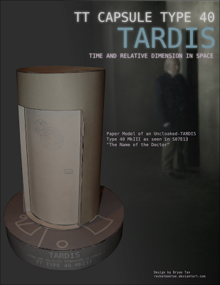 Doctor Who – Uncloaked TARDIS Papercraft