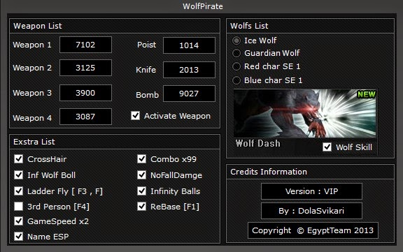 Wolfteam WolfPirate Vip Hile Botu Yeni Versiyon 02.05.2014 indir