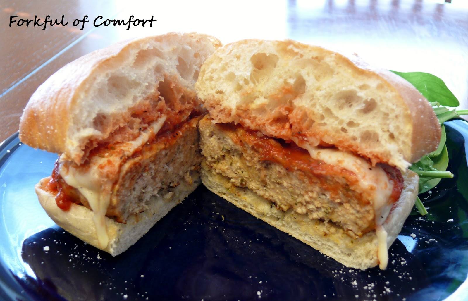 Forkful of Comfort: Chicken Parmesan Burgers