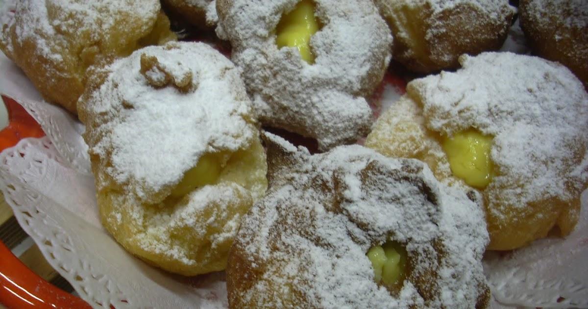 Le tenere dolcezze di resy bign fritti ripieni di crema for Dolci tradizionali romani