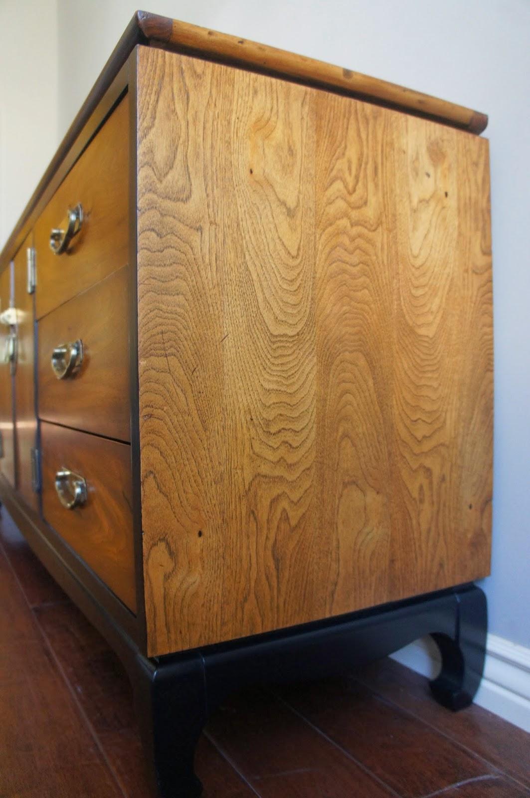 European Paint Finishes Vintage Modern Asian Lane Dresser Console