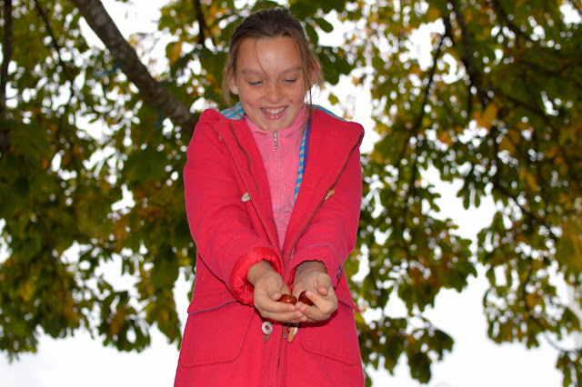 Girl with conkers