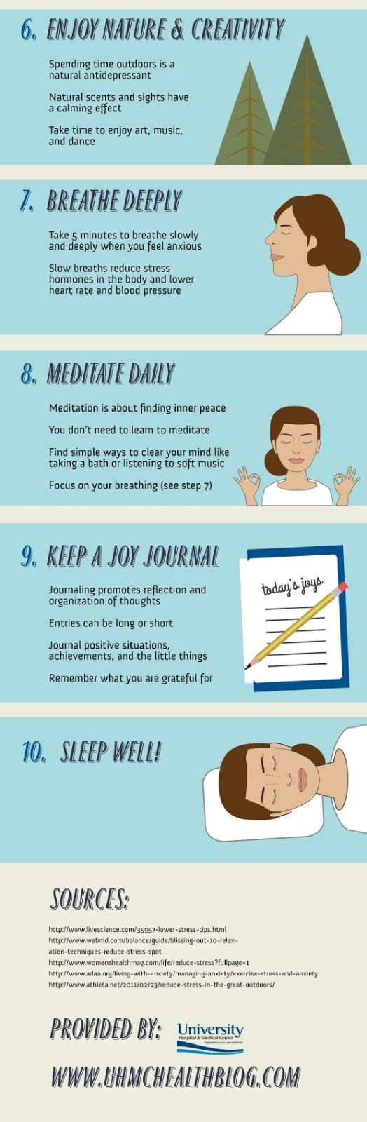 Ten Daily Steps for Less Stress