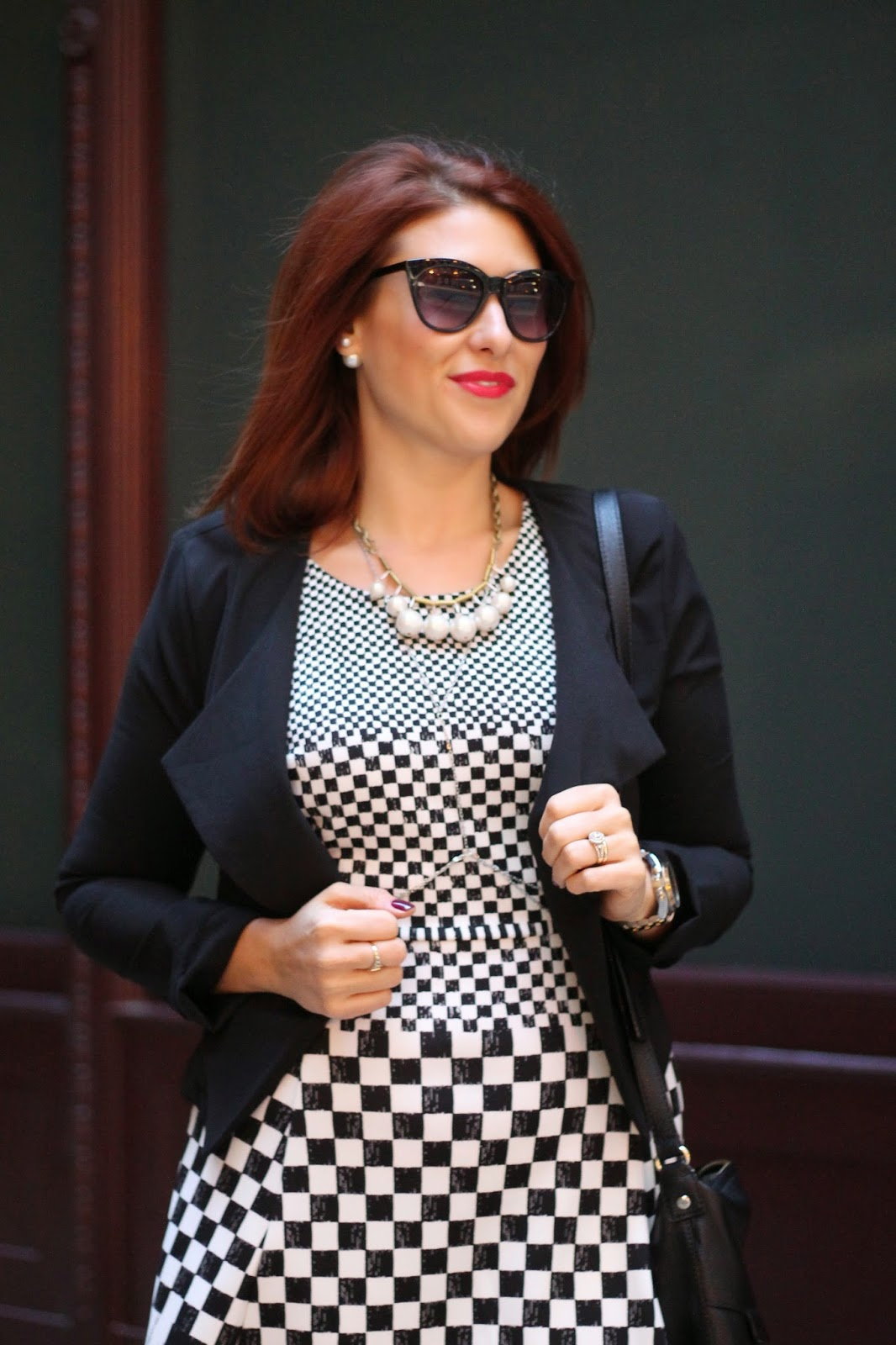 checkered, dress, jc, penny