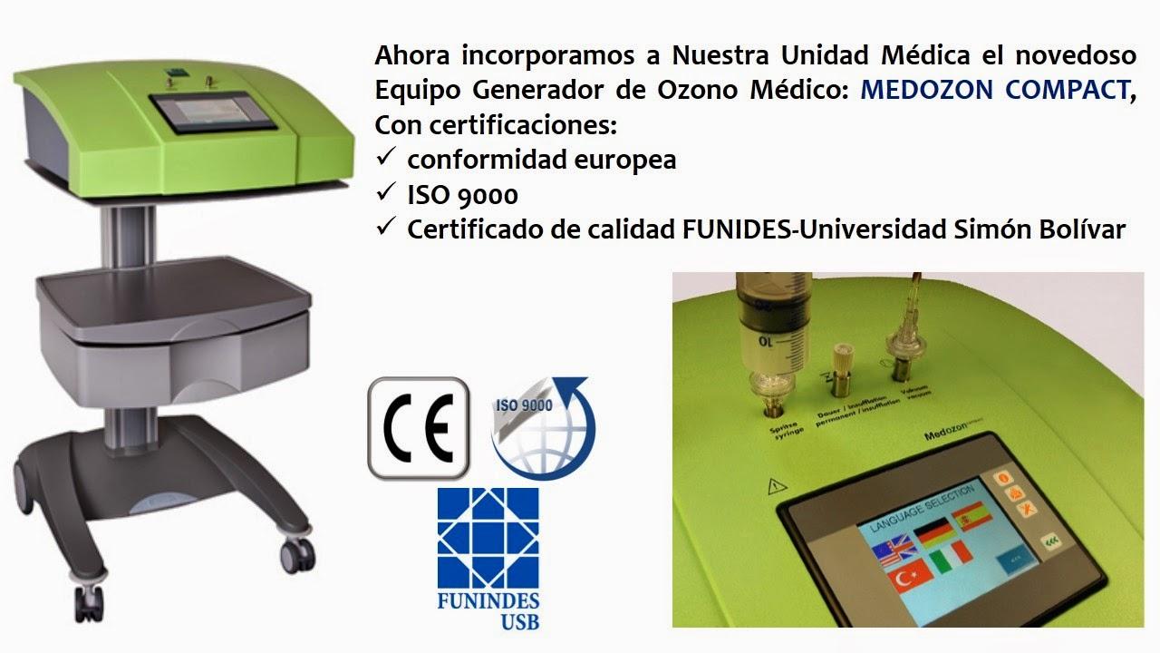 INCORPORAMOS EL GENERADOR DE OZONO MEDICINAL: MEDOZON COMPACT (TECNOLOGÍA ALEMANA)
