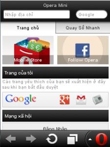 Phần mềm lướt web Opera Mini miễn phí 3g