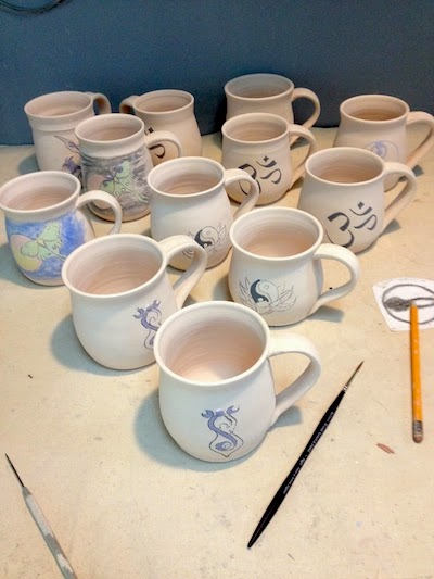 Hand Crafted mugs by Future Relics Pottery