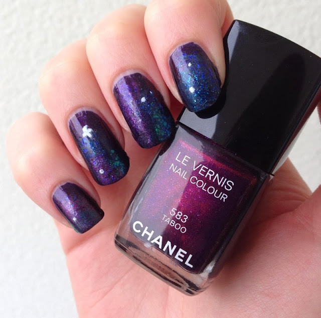 ongles galaxie