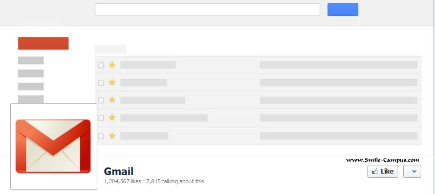 Gmail Facebook Timeline Page
