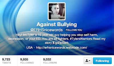 self harm and social media, @learningsliving, @erhsnicewords, bullying