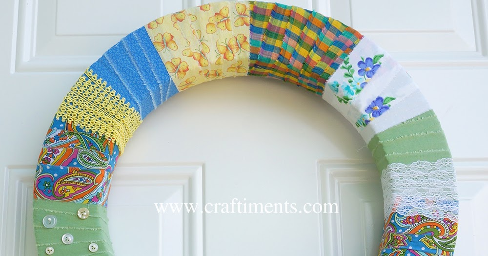 Scrap Busting Fabric Wrapped Wreath