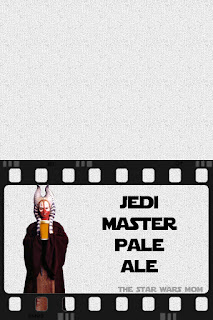 Free Printable Star Wars Party Drink Label - Jedi Master Pale Ale