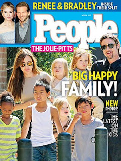 Angelina Jolie Family on people Magazine Cover
