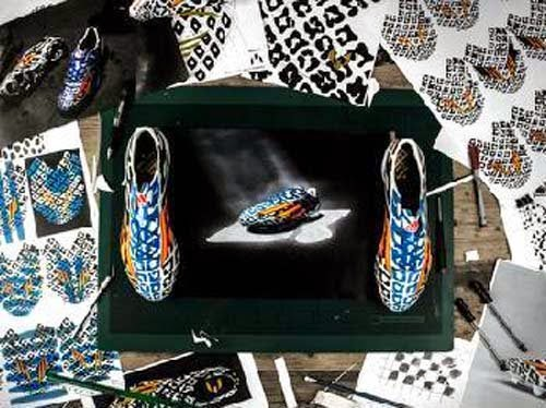 Adidas Adizero F50 battle pack sketch of Lionel Messi