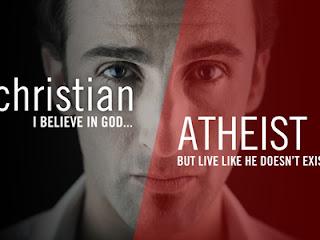 Christ: Ich glaube an Gott!   -Atheist: Aber leben tut ihr, als ob er nicht existiert!!