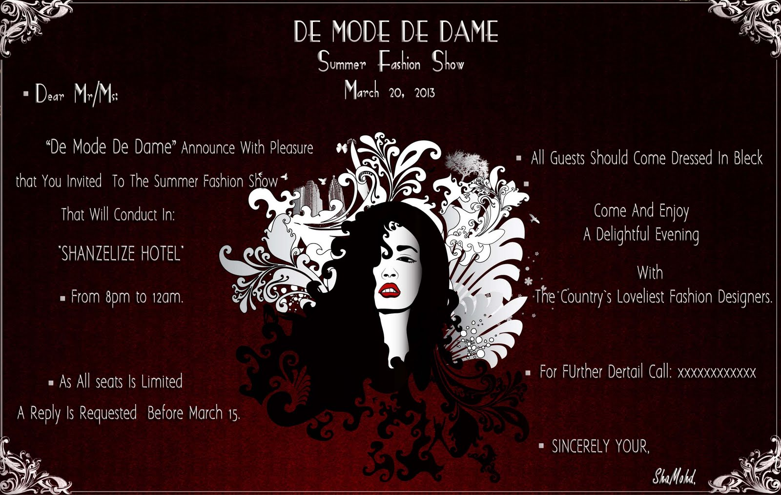 Fashion show invitation sample 40